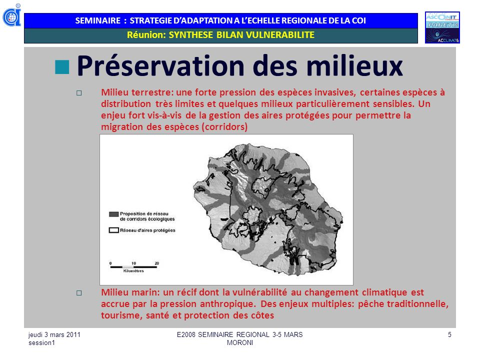 Réunion: SYNTHESE BILAN VULNERABILITE