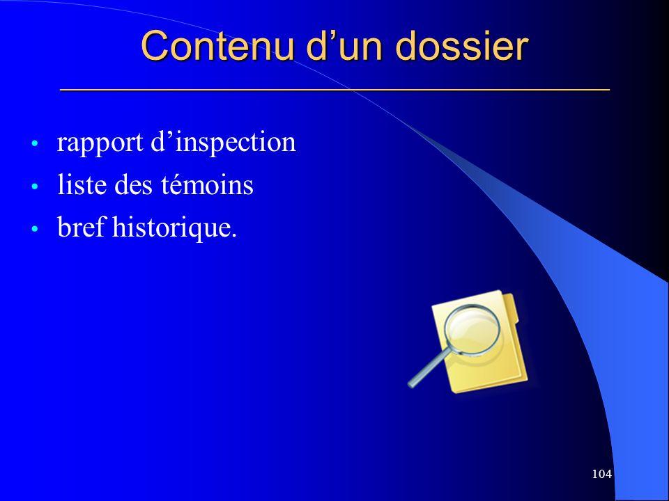 Contenu d'un dossier _____________________________________________________