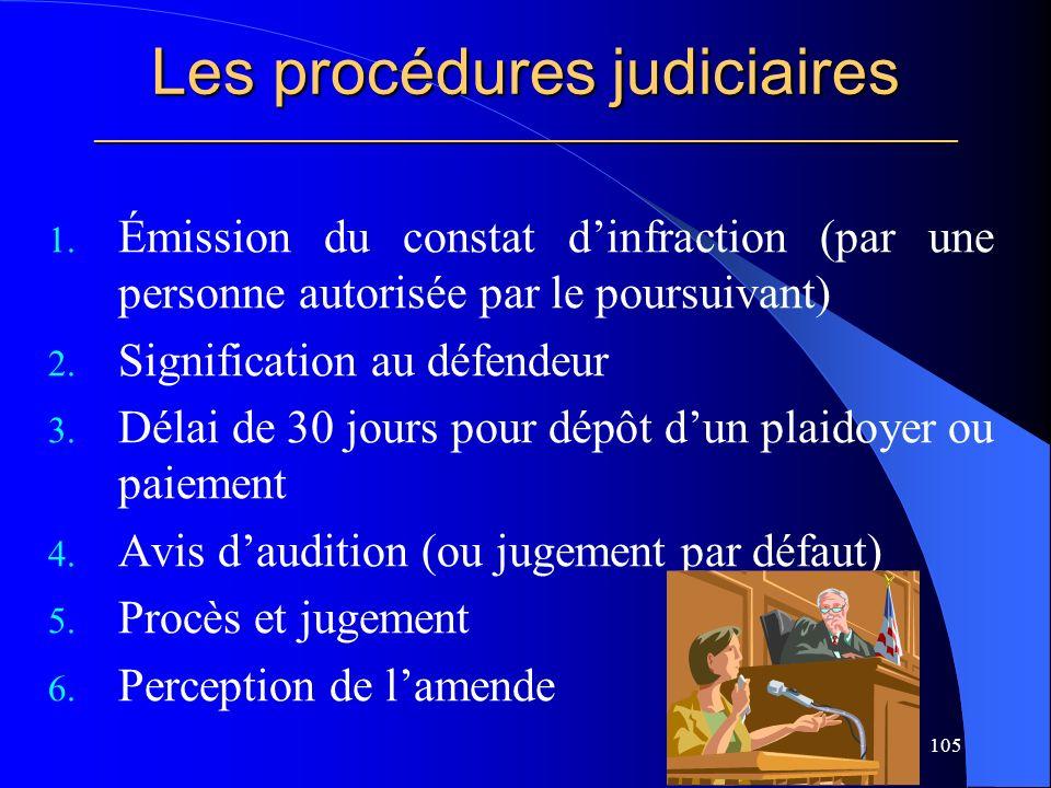 Les procédures judiciaires _____________________________________________________