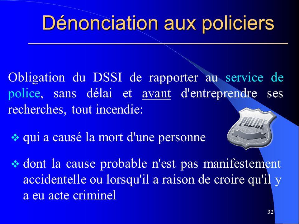 Dénonciation aux policiers ________________________________________________________