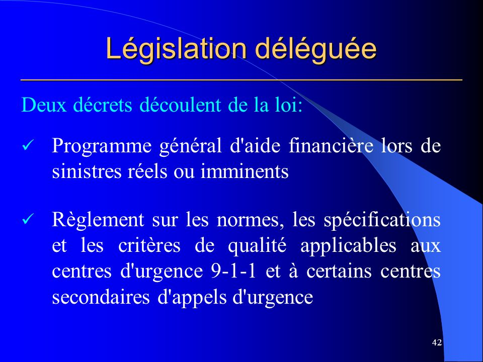 Législation déléguée ___________________________________________________________
