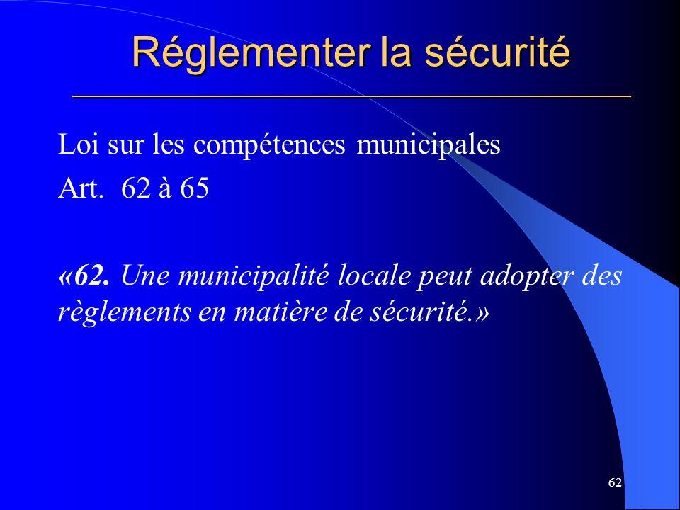 Réglementer la sécurité _____________________________________________________