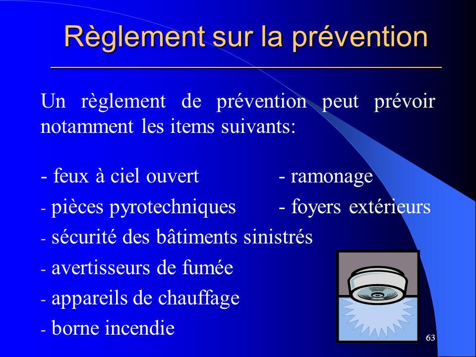 Règlement sur la prévention _____________________________________________________