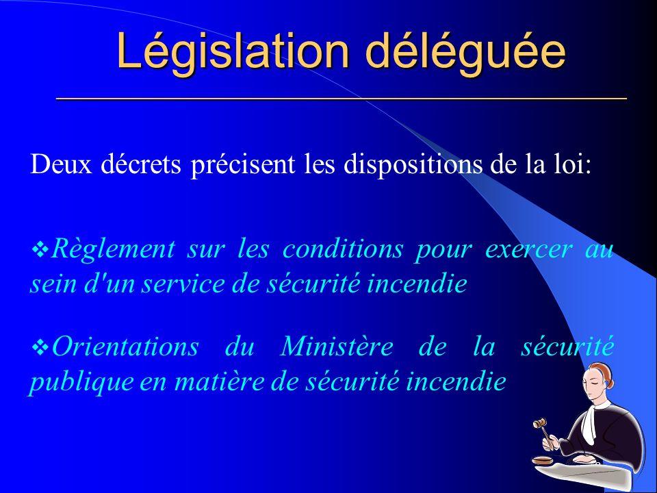 Législation déléguée ________________________________________________________