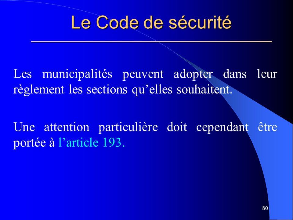 Le Code de sécurité _____________________________________________________