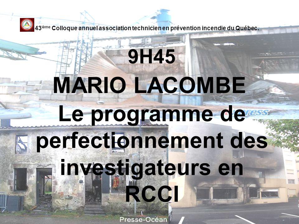 Le programme de perfectionnement des investigateurs en RCCI