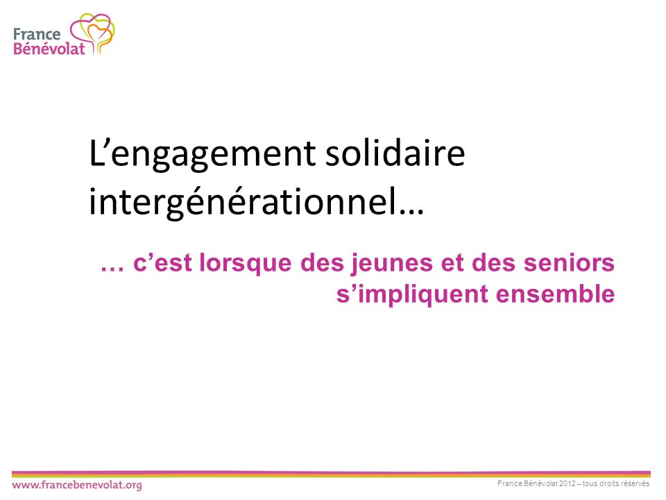 L'engagement solidaire intergénérationnel…
