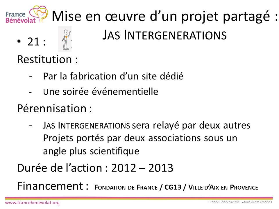 Mise en œuvre d'un projet partagé : Jas Intergenerations