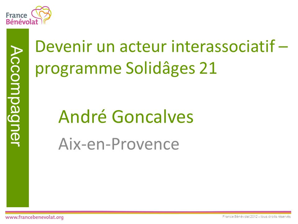 Devenir un acteur interassociatif – programme Solidâges 21