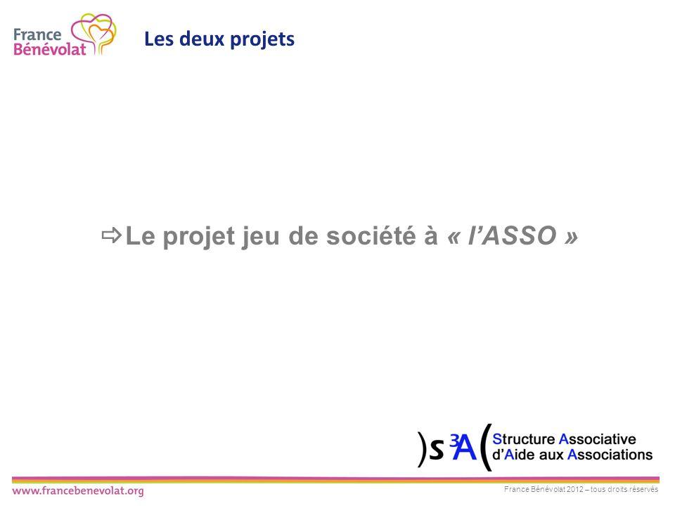 Le projet jeu de société à « l'ASSO »
