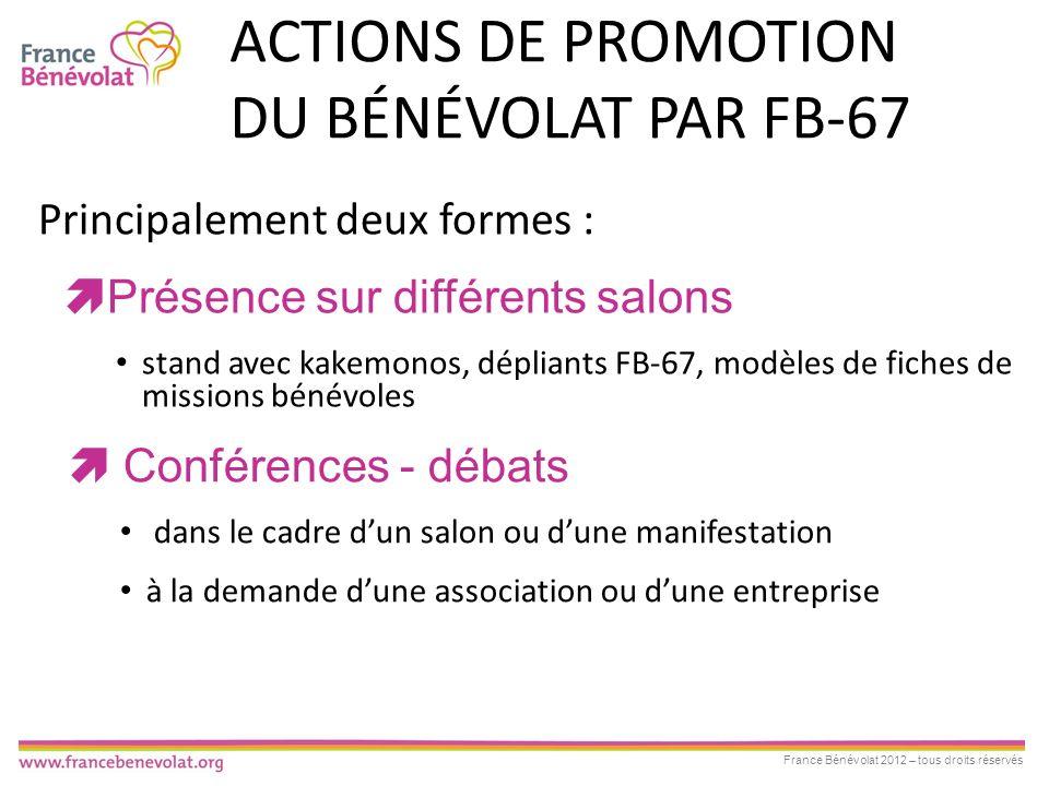 Actions de promotion du bénévolat par FB-67