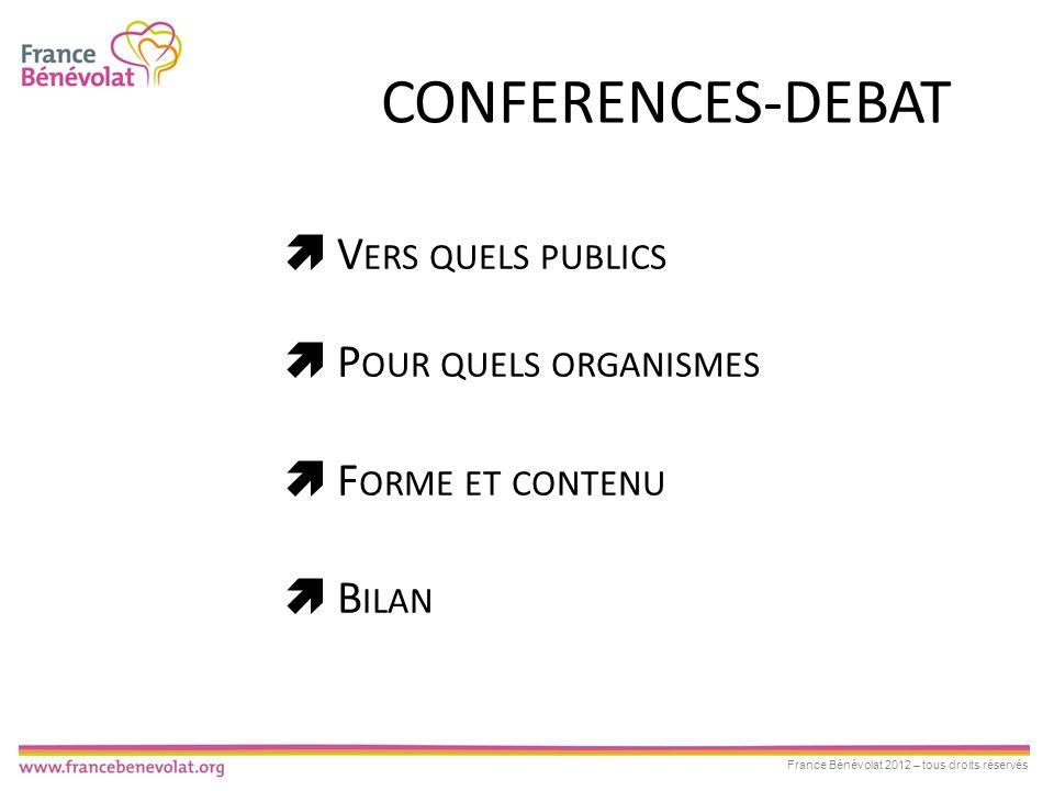 CONFERENCES-DEBAT  Vers quels publics  Pour quels organismes