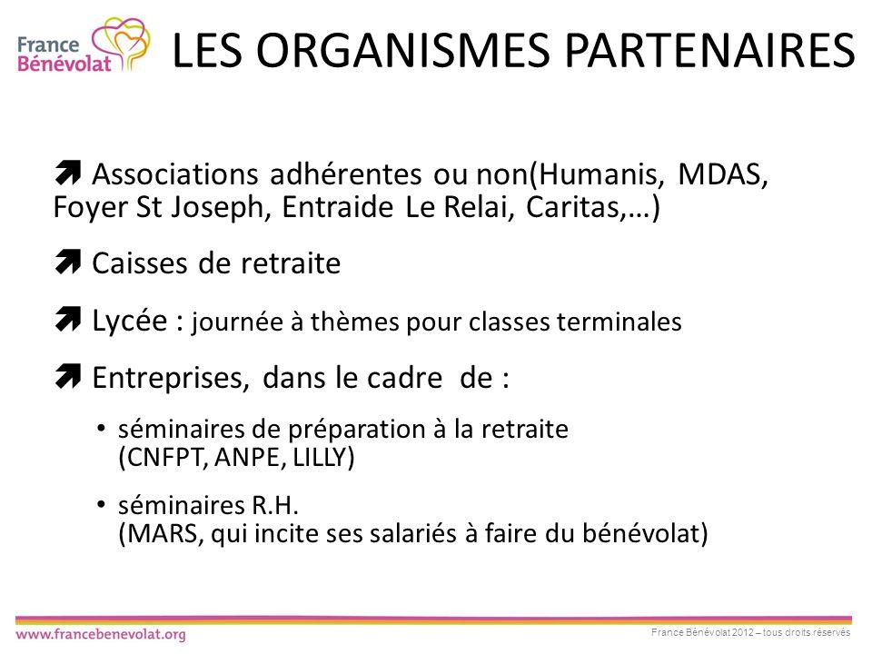 LES ORGANISMES PARTENAIRES