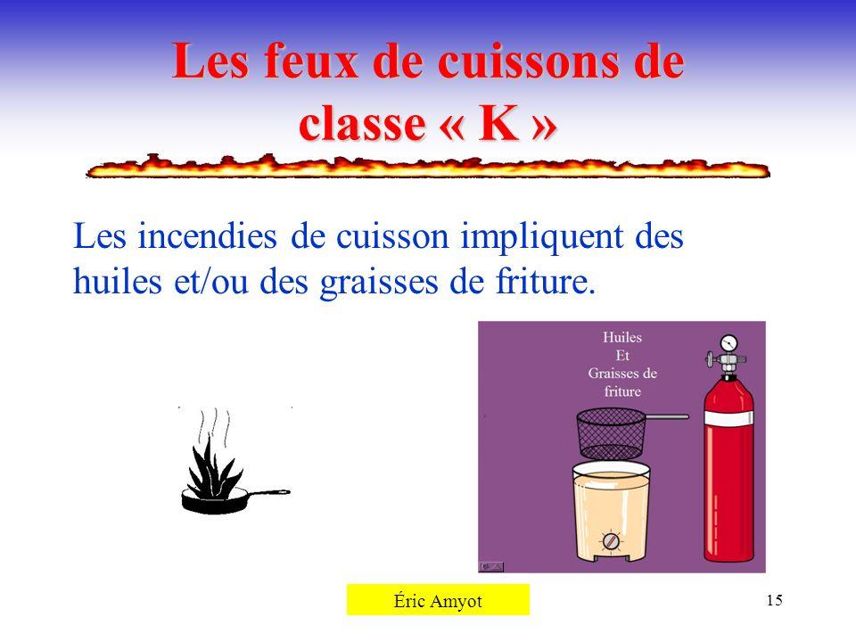 Les feux de cuissons de classe « K »