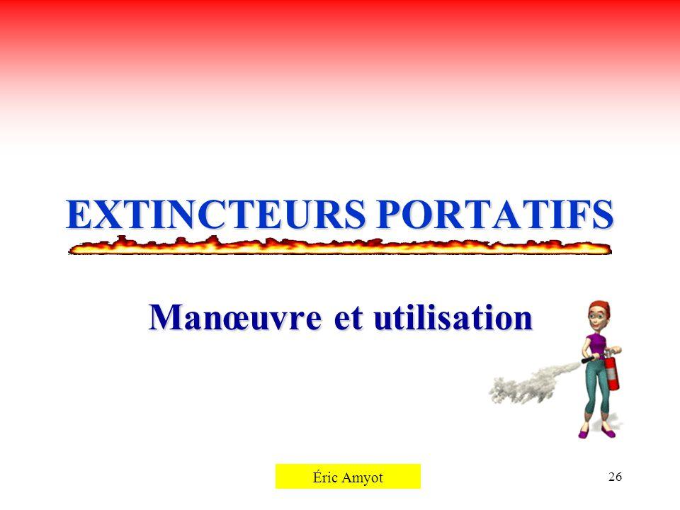 EXTINCTEURS PORTATIFS