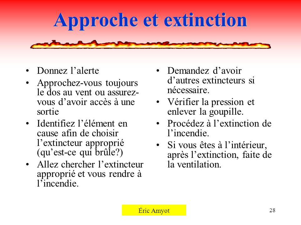 Approche et extinction
