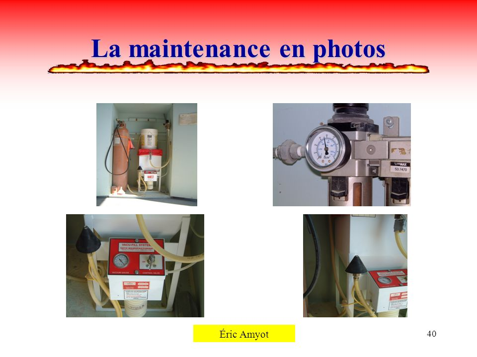 La maintenance en photos