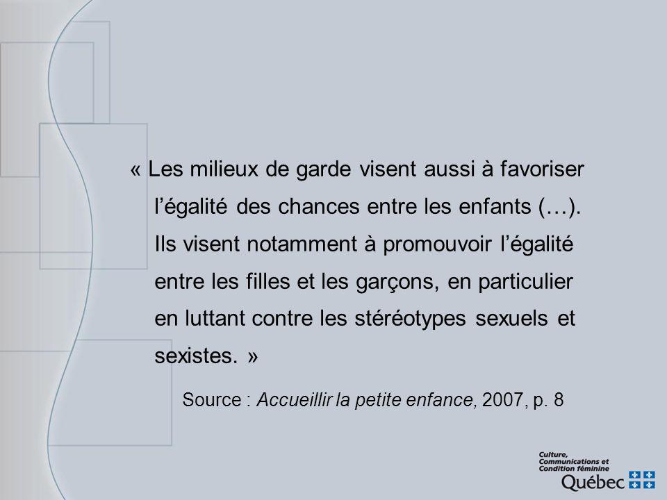 Source : Accueillir la petite enfance, 2007, p. 8