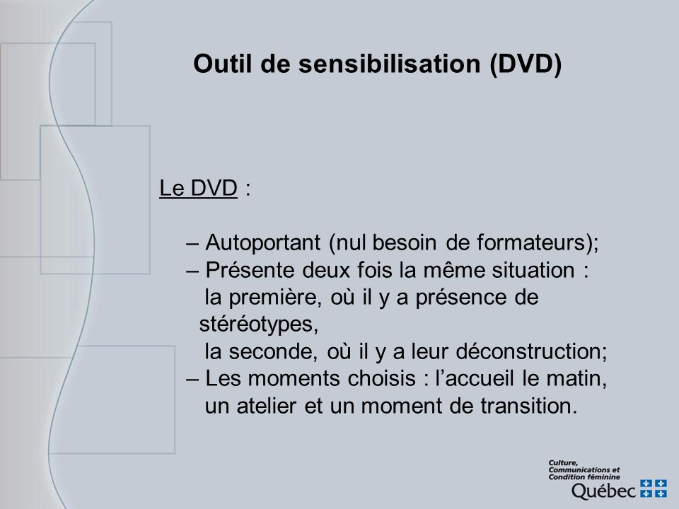 Outil de sensibilisation (DVD)
