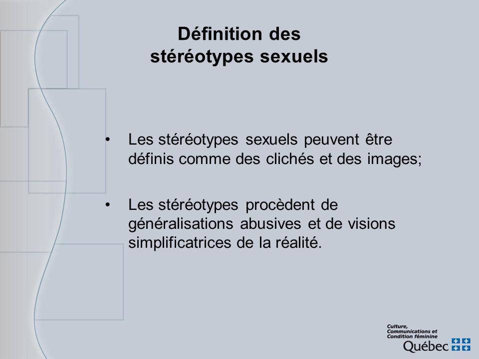 Définition des stéréotypes sexuels