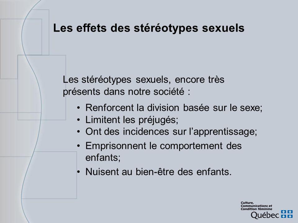 Les effets des stéréotypes sexuels