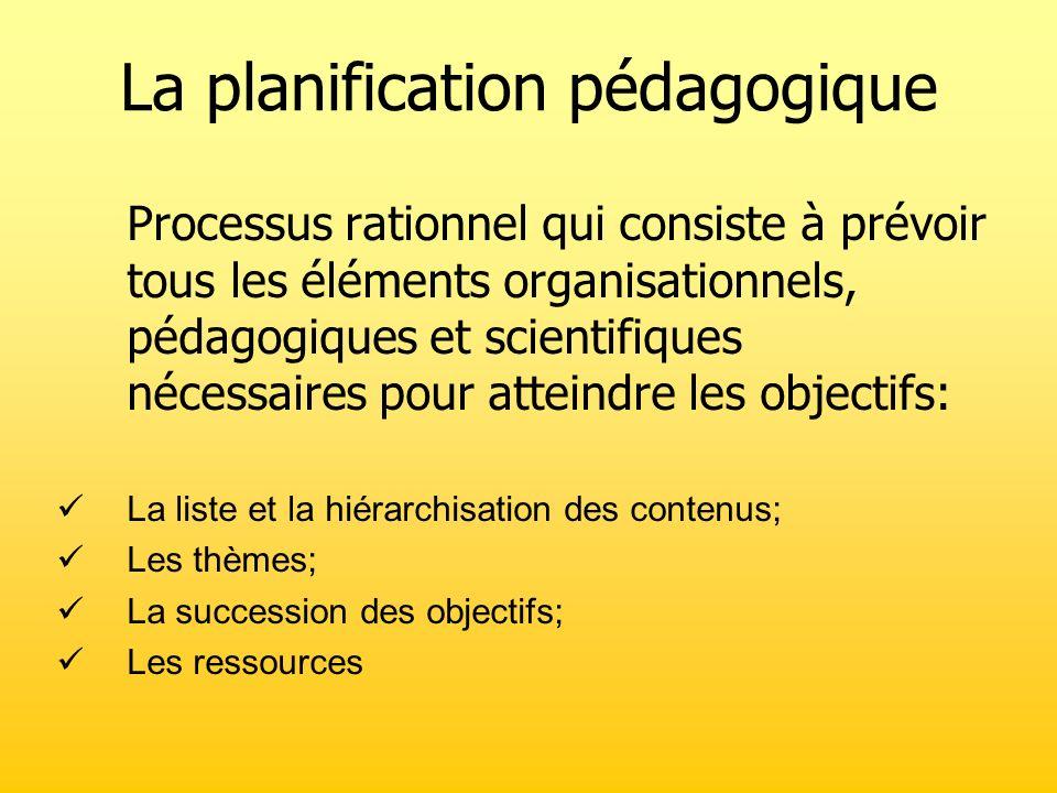La planification pédagogique