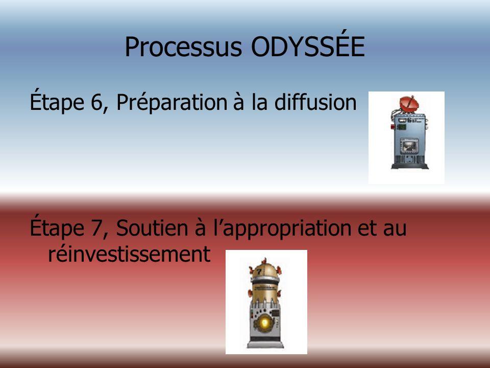 Processus ODYSSÉE Étape 6, Préparation à la diffusion