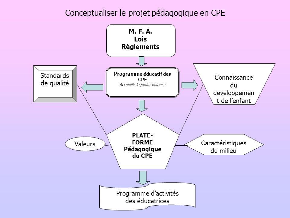 Conceptualiser le projet pédagogique en CPE