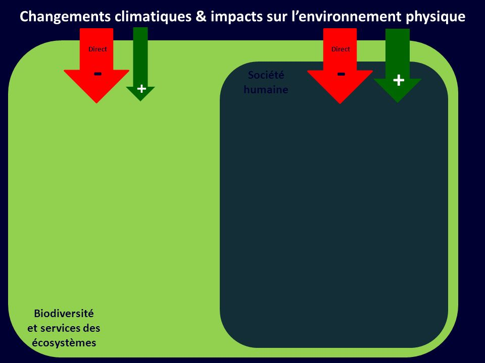 - - + + Changements climatiques & impacts sur l'environnement physique
