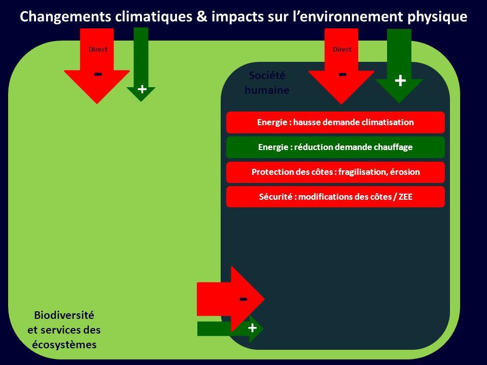Changements climatiques & impacts sur l'environnement physique