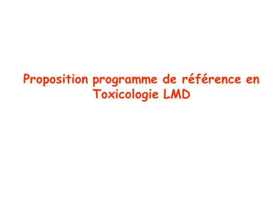 Proposition programme de référence en Toxicologie LMD
