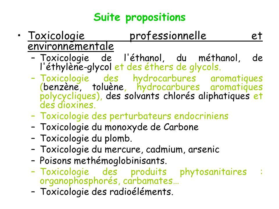 Toxicologie professionnelle et environnementale