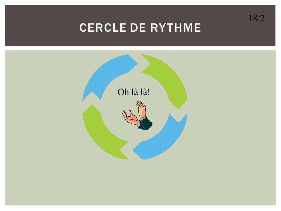 CERCLE de RYTHME 18/2 Oh là là!