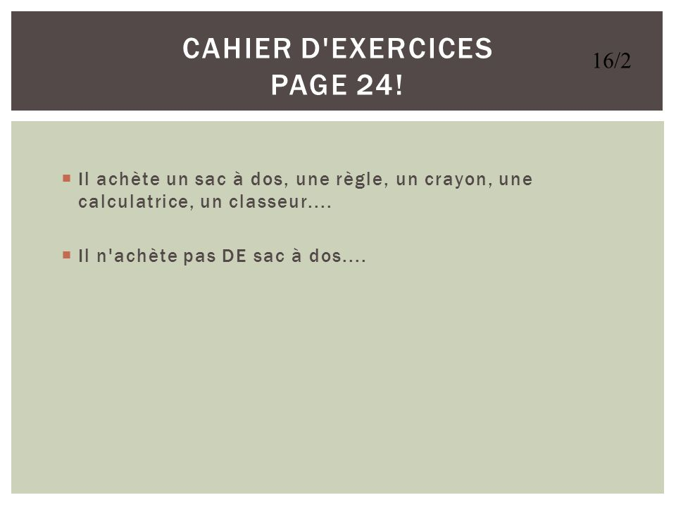 Cahier d Exercices Page 24!