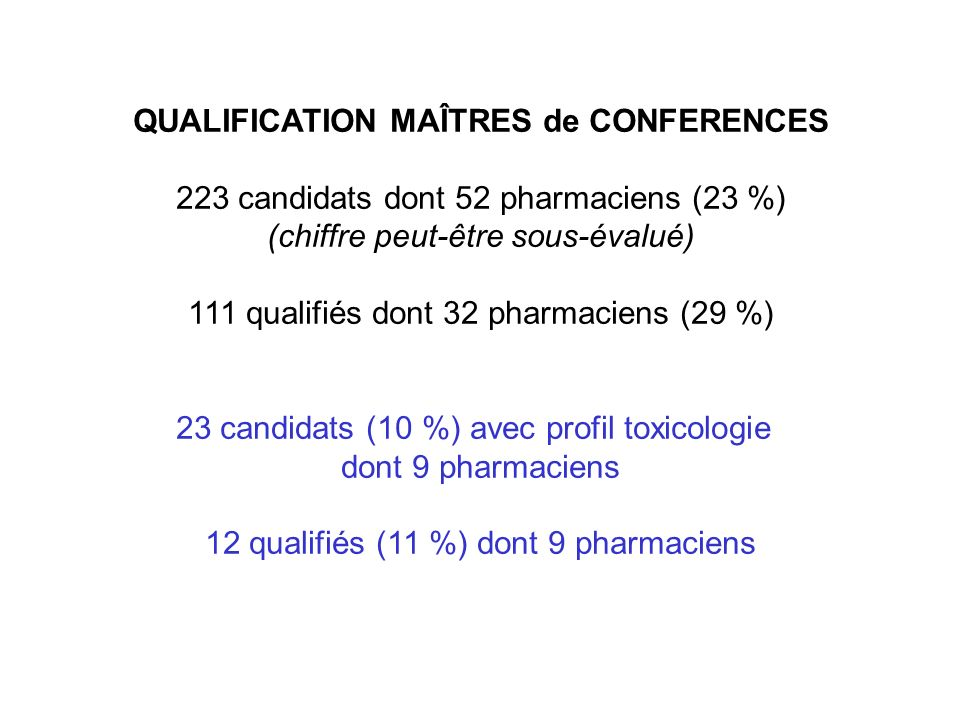 QUALIFICATION MAÎTRES de CONFERENCES