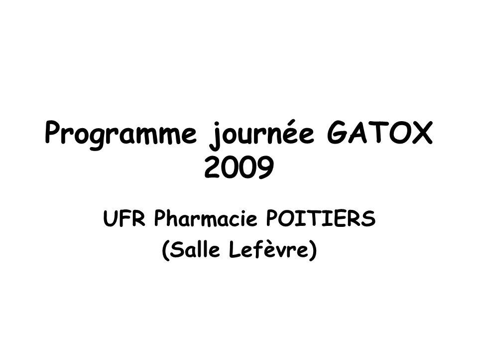 Programme journée GATOX 2009