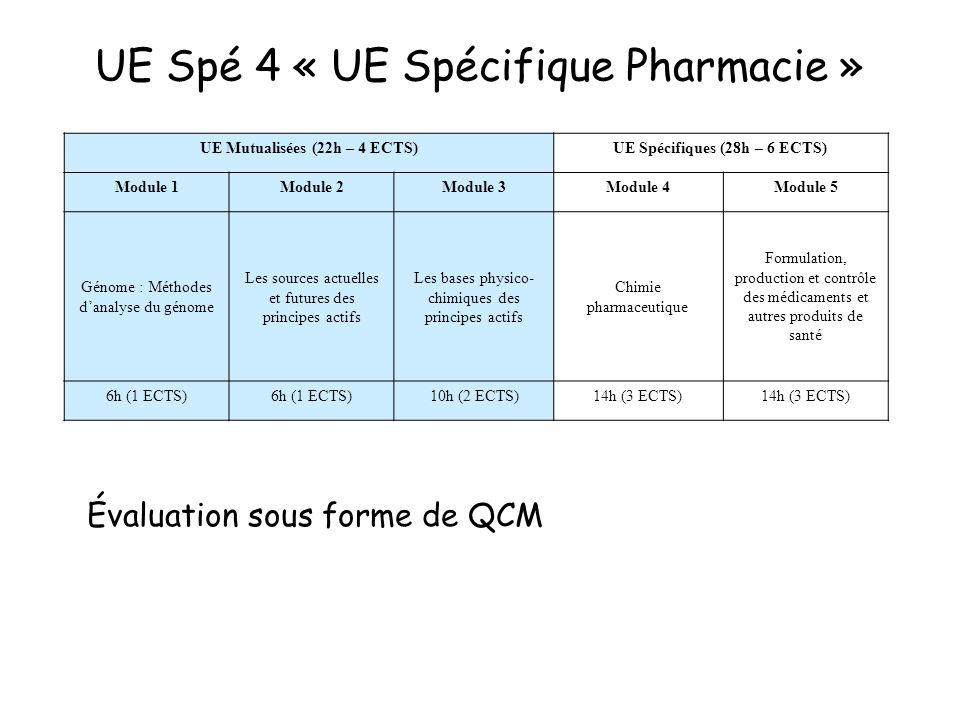 UE Spé 4 « UE Spécifique Pharmacie »