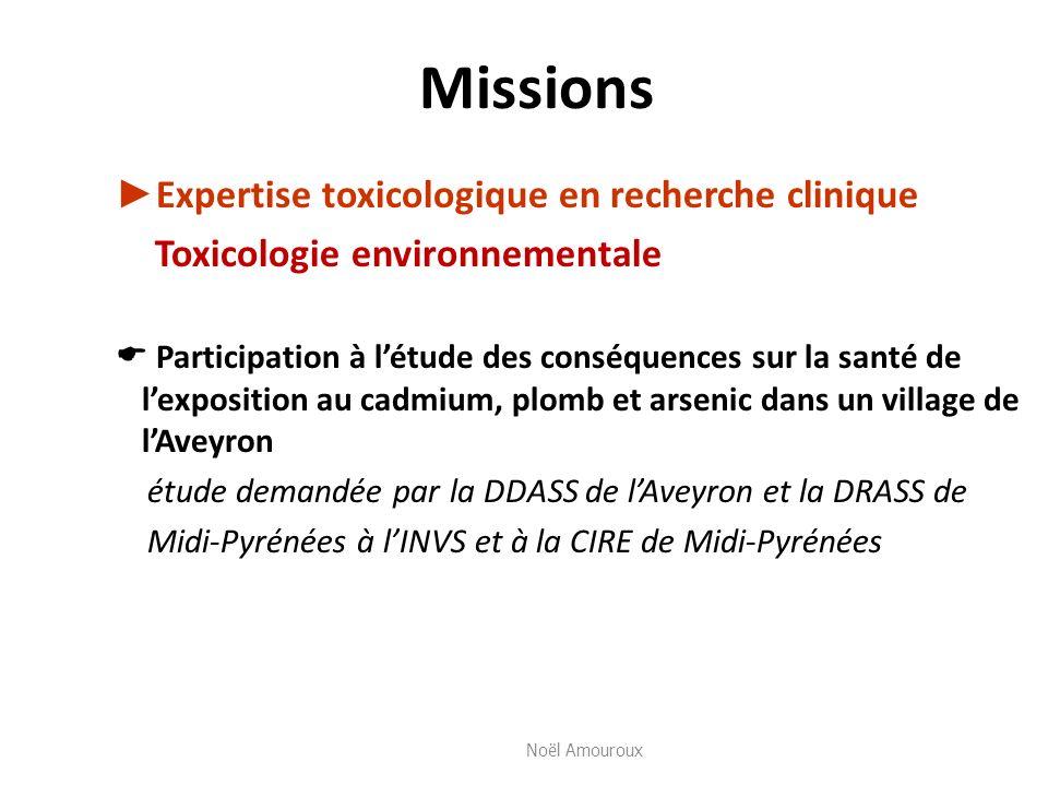 Missions ►Expertise toxicologique en recherche clinique