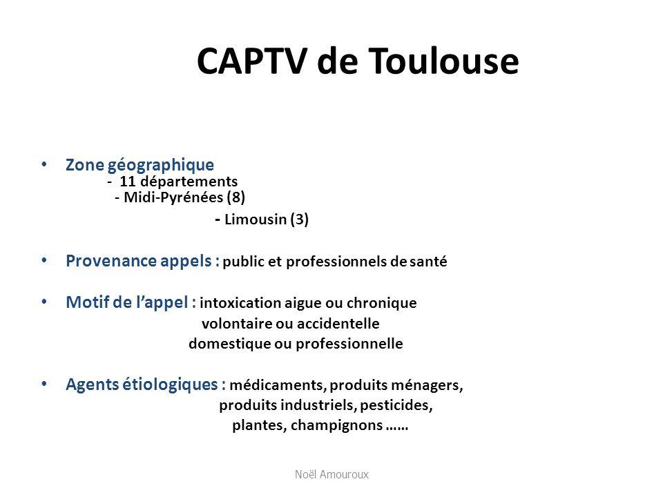 CAPTV de Toulouse Zone géographique - 11 départements - Midi-Pyrénées (8) - Limousin (3)