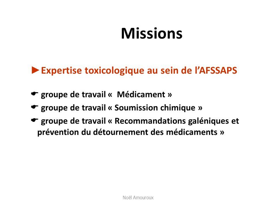 Missions ►Expertise toxicologique au sein de l'AFSSAPS