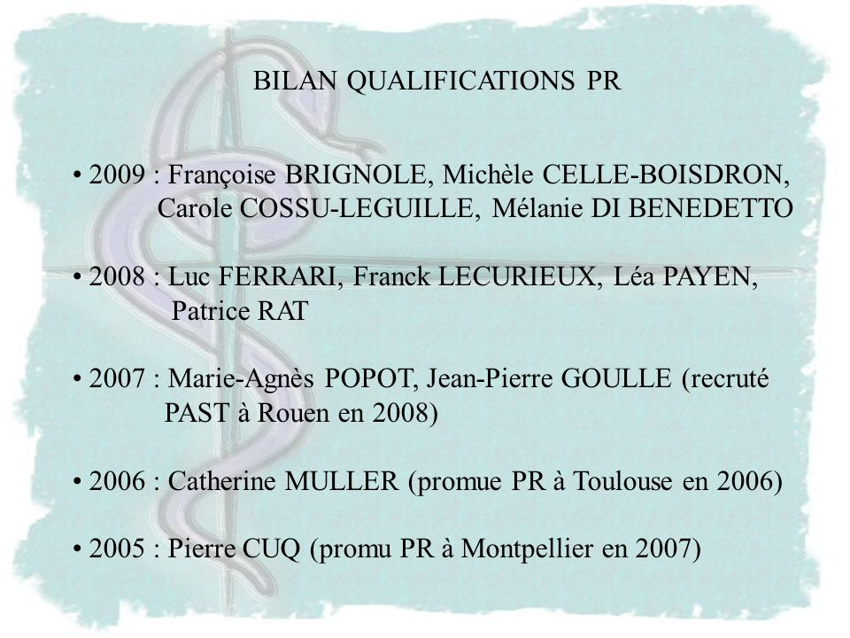 BILAN QUALIFICATIONS PR