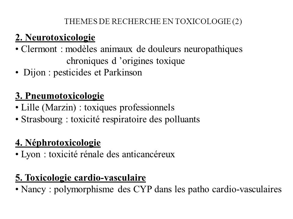Clermont : modèles animaux de douleurs neuropathiques