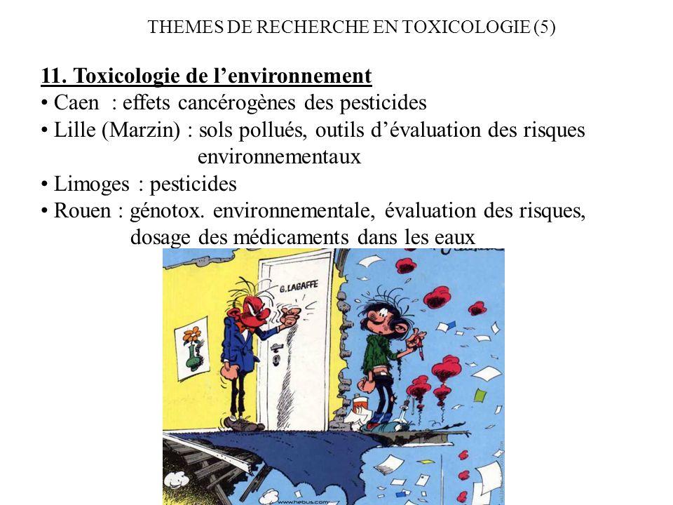 11. Toxicologie de l'environnement