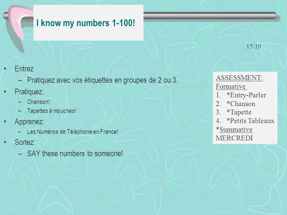 I know my numbers 1-100! Entrez