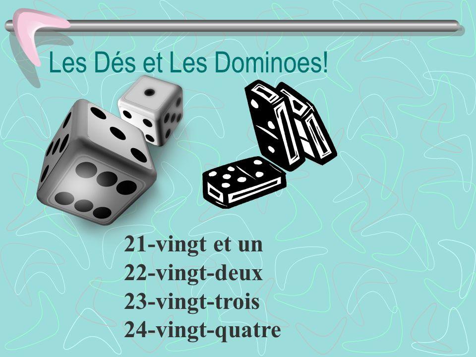 Les Dés et Les Dominoes! 21-vingt et un 22-vingt-deux 23-vingt-trois