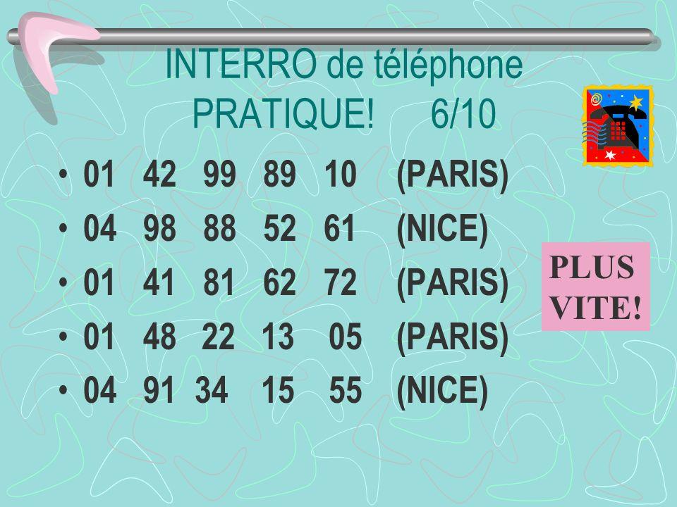 INTERRO de téléphone PRATIQUE! 6/10