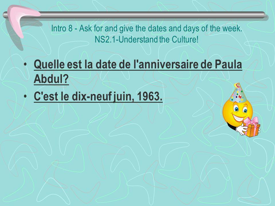 Quelle est la date de l anniversaire de Paula Abdul