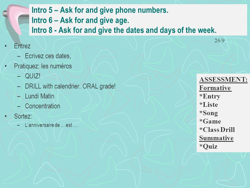 Intro 5 – Ask for and give phone numbers