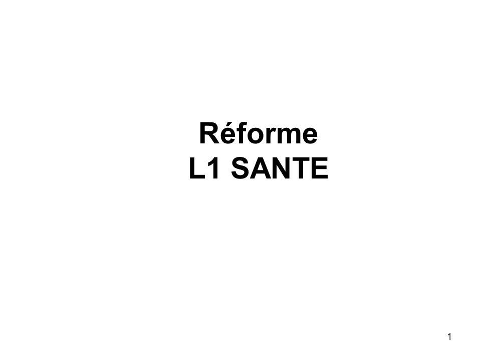 Réforme L1 SANTE