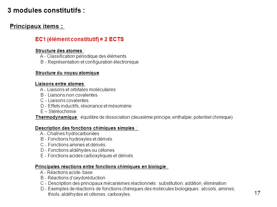 3 modules constitutifs :